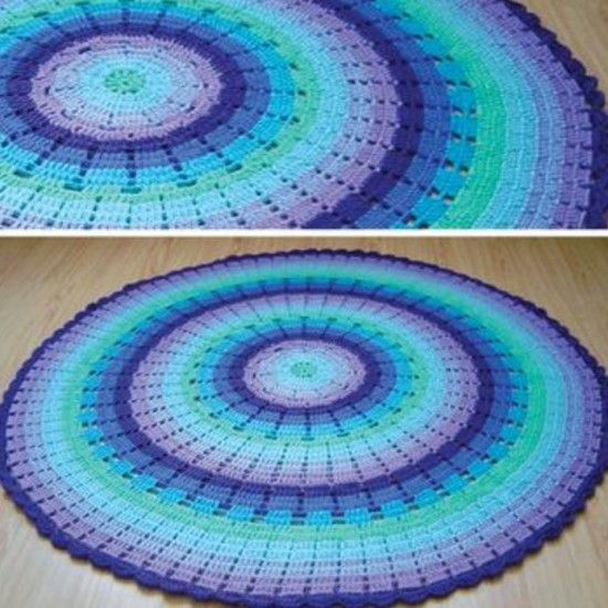 Crochet Baby Blanket Circular Pattern : 91 best images about Crochet Star & Round Afghans on Pinterest