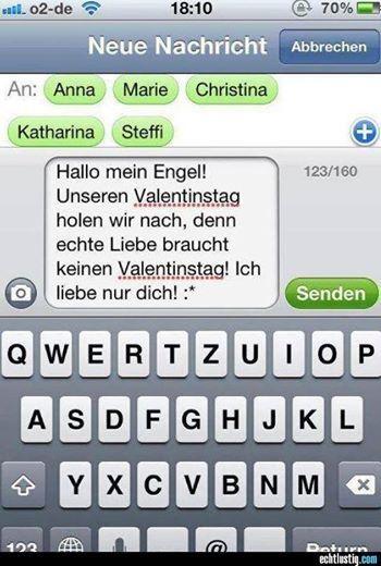 Die #einzige #SMS Die Sie Heute Am #Valentingstag Brauchen ... U003e
