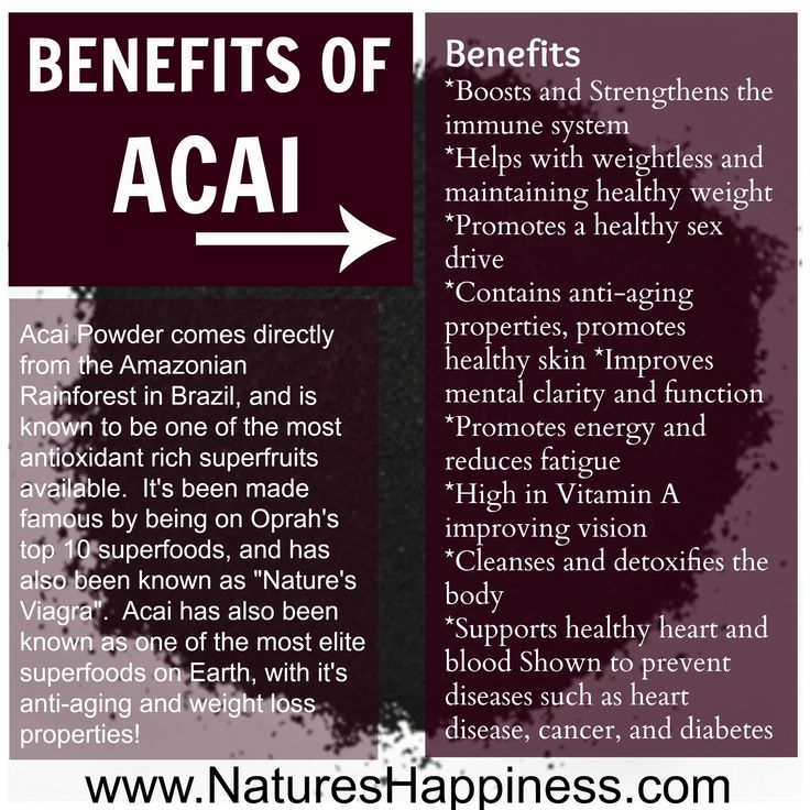 Benefits of Acai Berries | Non-GMO and Organic  at Nature's Happpinesd http://www.natureshappiness.com/acai-berry-powder-8oz/