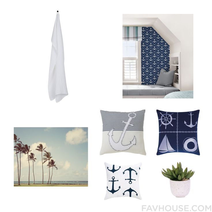 Decor Mix & Match Including By Nord Bath Towel Removable Wallpaper Wall Wall Art And Nautical Throw Pillow From November 2016 #home #decor