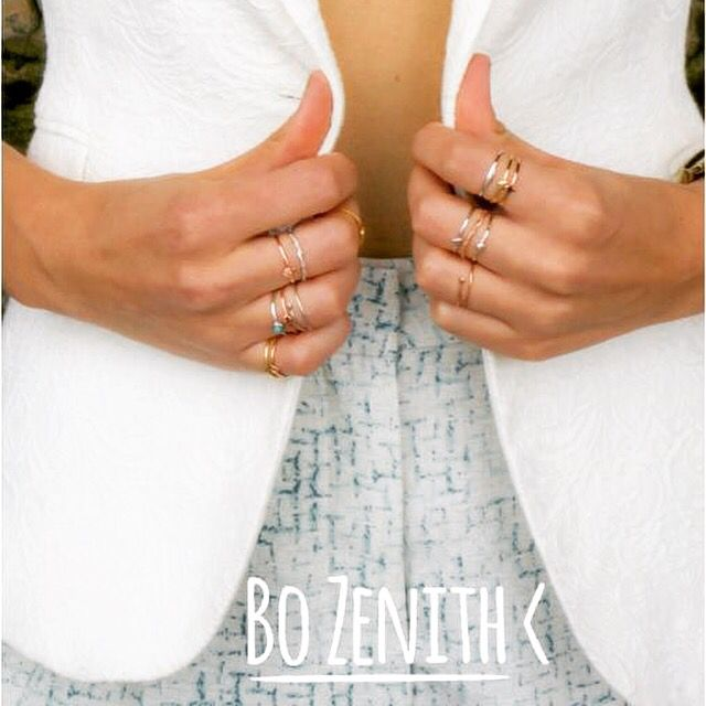Bo Zenith rings • solid silver • 18k gold or rose gold • from $27 @bozenith or visit www.bozenith.com.au  #bozenith #finestackrings #adjustable #solidsilver #sydneyjewellery