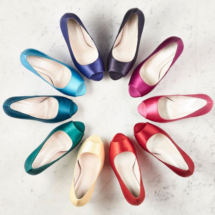 A bridal heel matched perfectly to your wedding day! Shop dyeable wedding shoes from David's Bridal in over 60 colors!