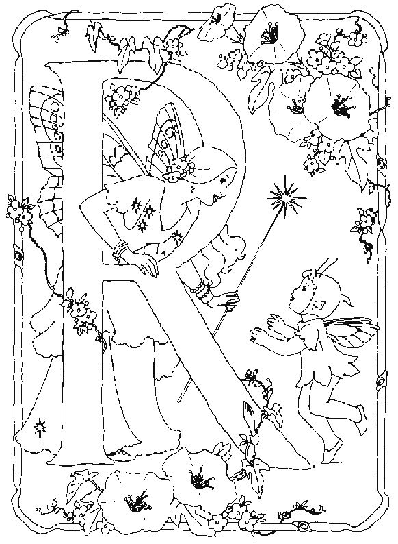 Fairy Alphabet | Fairy coloring pages, Fairy coloring ...
