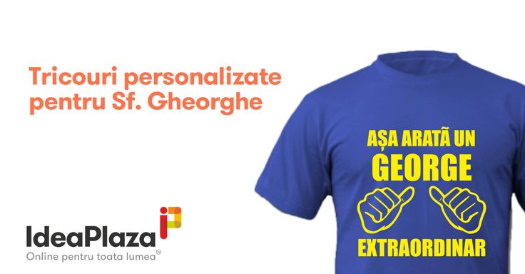 Daruieste un #Tricou personalizat pentru persoanele dragi cu ocazia zilei de Sfantul #Gheorghe  --- https://goo.gl/NqGIPu
