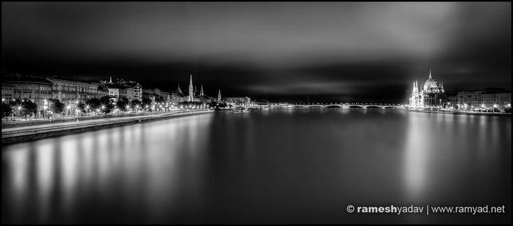 Danube at Night - Budapest, Hungary