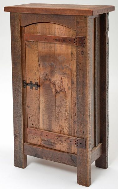 Barnwood furniture heritage collection cupboard for Custom wood cabinets