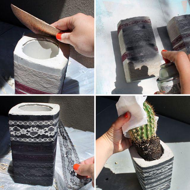 Bellart Atelier: Como fazer vasos e castiçais de cimento.