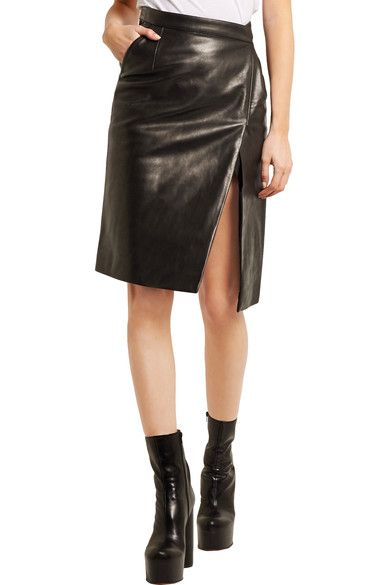 Vetements - Wrap-effect Leather Pencil Skirt - SALE20 at Checkout for an extra 20% off