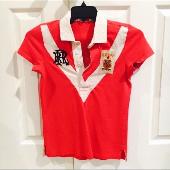 Women's rugby collard shirt This beautiful short sleeve rugby shirt would be perfect for summertime outings Ralph Lauren Rugby Tops