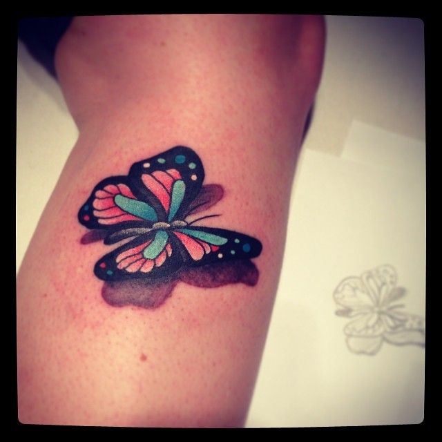 3d small butterfly the artful body pinterest tattoo small butterfly tattoo and tatoos. Black Bedroom Furniture Sets. Home Design Ideas