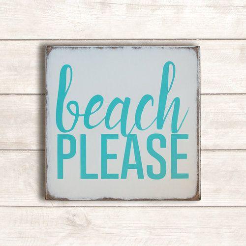 Beach Please Hand Painted Beach Wood Sign Beach Decor Beach Wall