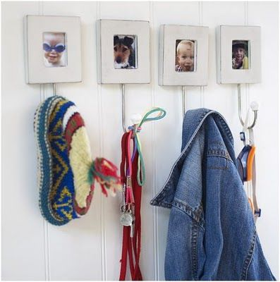 perchero con fotos: Decor Ideas, With Photos, Garnish With, Cuddles Ideas, Cute Ideas, Frame Hooks, Dog Ideas