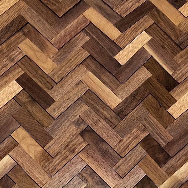 3d Natural Herringbone Walnut Walling Natural Walnut Wood Wall Texture Herringbone Wall