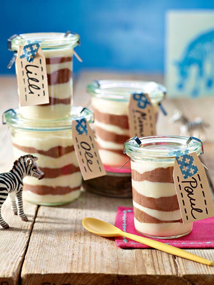 Zebra-Dessert - Ein leckeres Dessert mit Sahne-Schokoladen-Geschmack