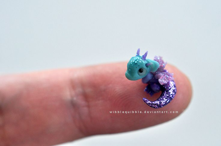 Baby Fairy Dragon Micro sculpture by wibblequibble.deviantart.com on @deviantART