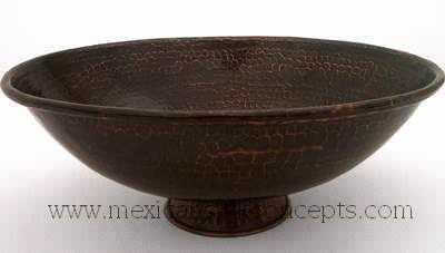 CopperSinks.COM : Traditiona copper vessel sink Model: J-20-180