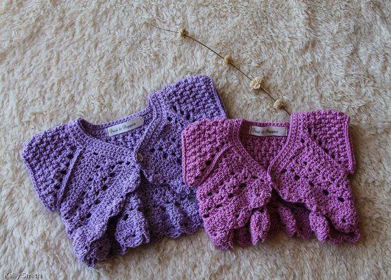 Baby Girl Cardigan Crochet Baby Cardigan by FredandPepperShop