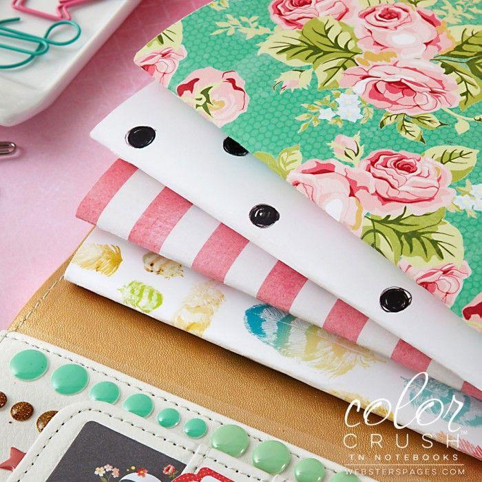 Color Crush Midori Travelers Notebook - Floral & Dot