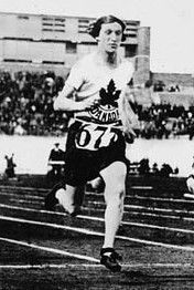 "Fanny (""Bobbie"") Rosenfeld (December 28, 1904, in Dneipropetrovsk, Russia — November 14, 1969) was a Canadian athlete, who earned a gold medal for the 400 metre relay and a silver medal for the 100 metre at the 1928 Summer Olympics in Amsterdam. She was called the ""best Canadian female athlete of the half-century"" and a star at basketball, hockey, softball, and tennis. She was named Canada's Female Athlete of the First Half-Century (1900–1950). She also was called Bobbie for her ""bobbed""…"