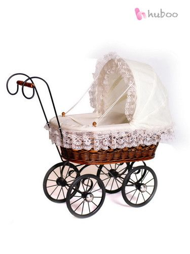 New Antique Wicker Dolls Pram Lace Vintage Style Old Fashioned Toy Girls Child | eBay