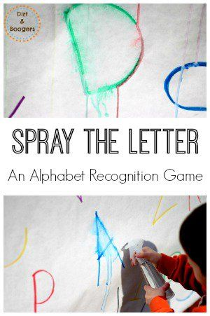 Spray that letter!  Watch it drip.