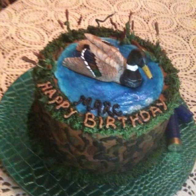 Duck+Blind+Cakes Cakes, Camo Cakes, 16Th Birthday, Boys Birthday, Camo