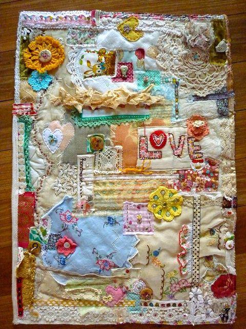 """handmade love"" art quilt by ngaire.b, via Flickr"