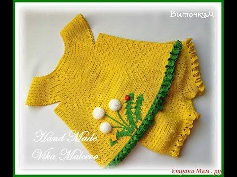 Вязаные платья и костюмы для девочек. Crochet dresses and suits for girls - YouTube