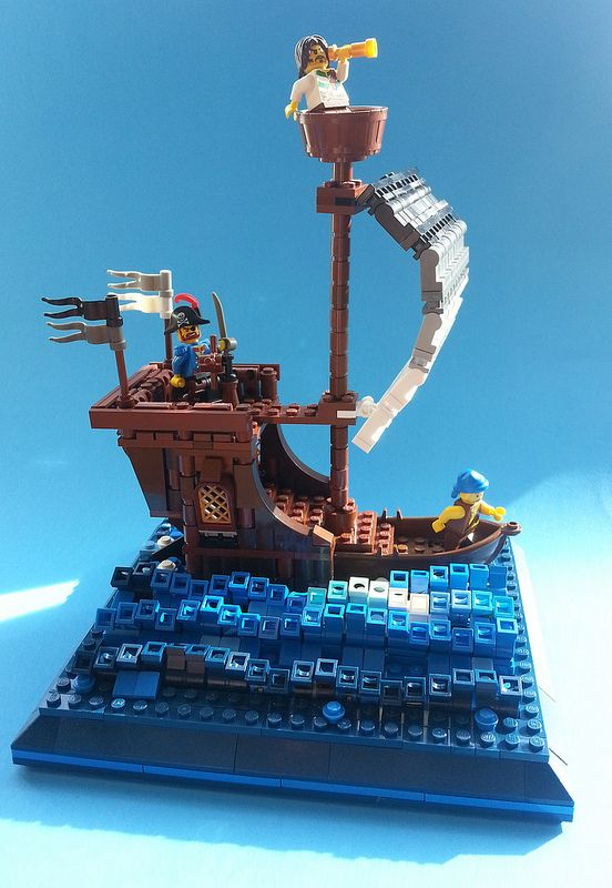 "#LEGO Pirate ship ""Clear Skies"""
