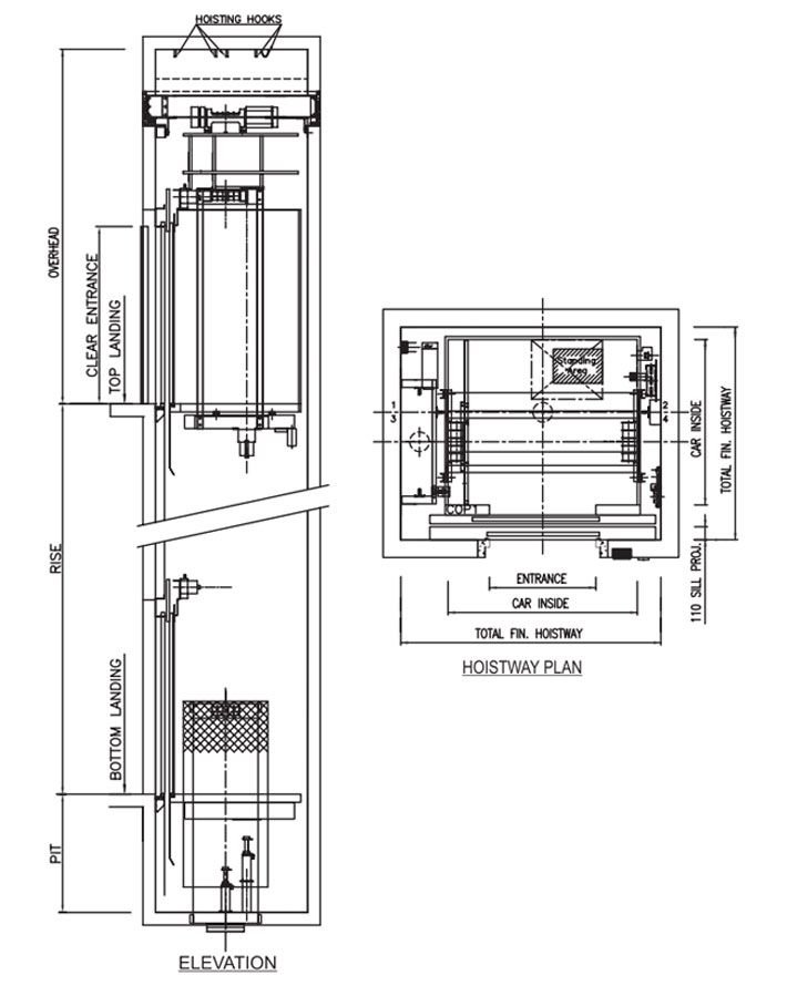 VRS Hydraulic Elevator Technical Data | Elevators in 2019