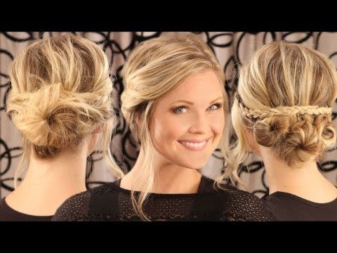 Two very cute, super-doable updos, perfect for spring.