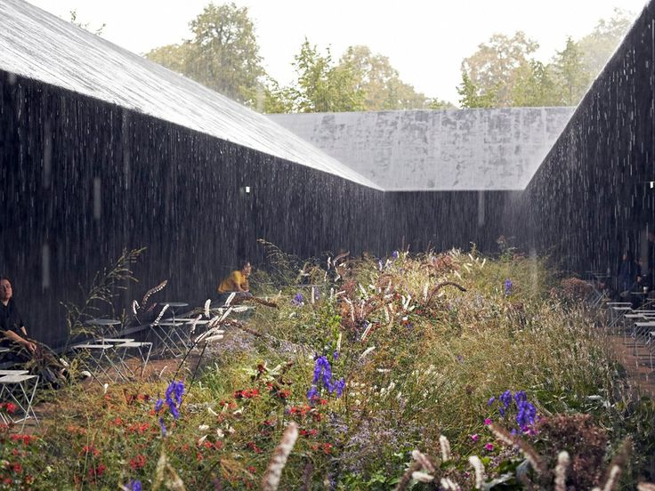 serpentine gallery pavillon, london | architecture by peter zumthor, garden design by piet oudolf