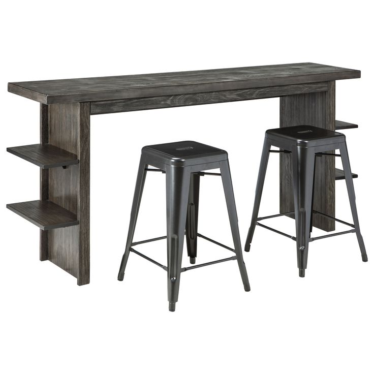 Shop For The Signature Design By Ashley Lamoille Long Counter Table And Barstool Set At Miskelly Furniture
