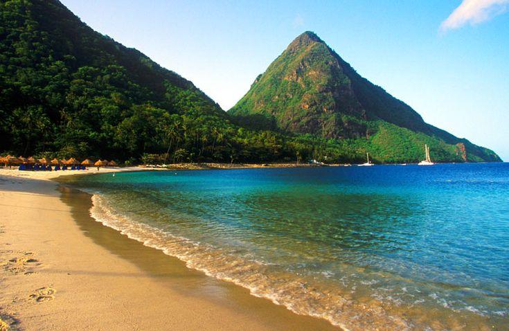 Saint Lucia Island in the Caribbean