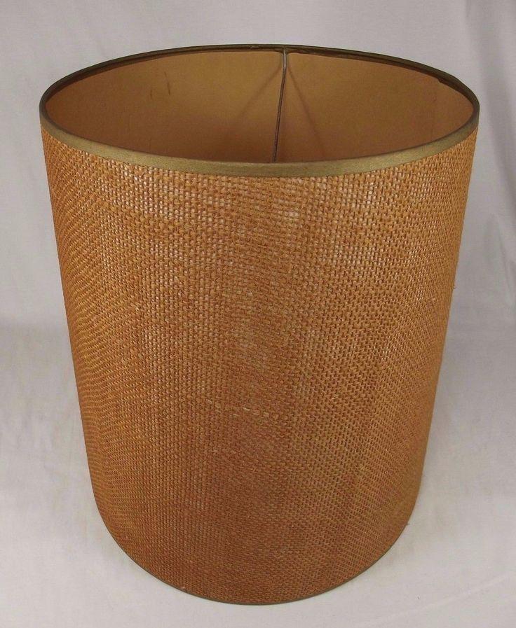 Best 25 burlap lamp shades ideas on pinterest shabby chic lamp vintage burlap lamp shade drum light mid century modern danish brown retro 60s ebay mozeypictures Choice Image