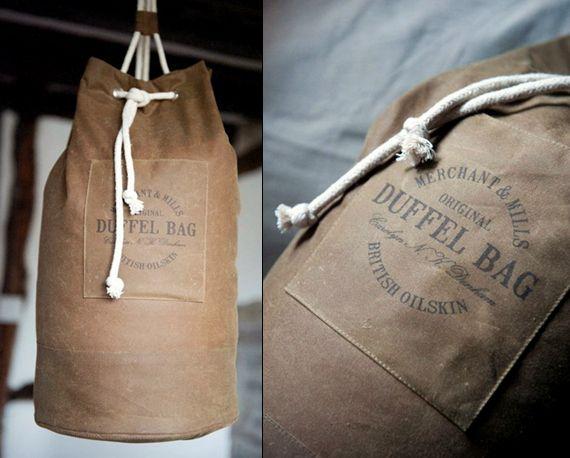Oilskin Duffel Bag Kit by Merchant and Mills