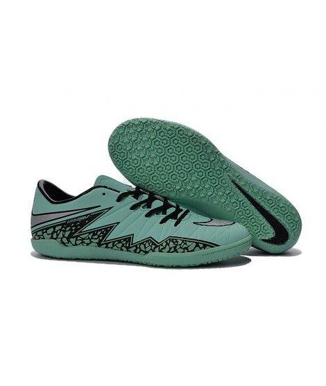 Nike Hypervenom Phelon II IC SÁLOVÁ Muži Kopačky Zelená Černá Stříbro
