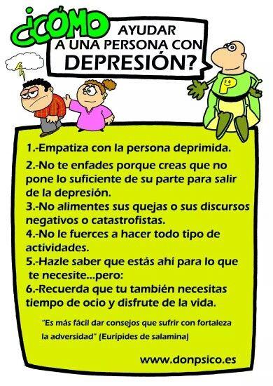Consejos para tratar con personas con #Depresion en #Infografía