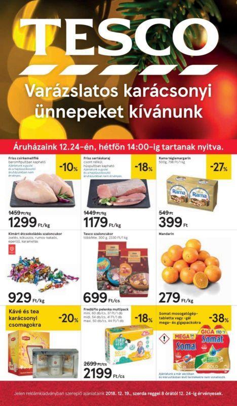 TESCO Akciós Újság 2018. 12.19-12.24-ig  Csirkemellfilé ab39365685