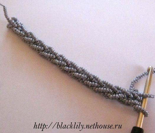 Основы вязания бисерных жгутов крючком - 5