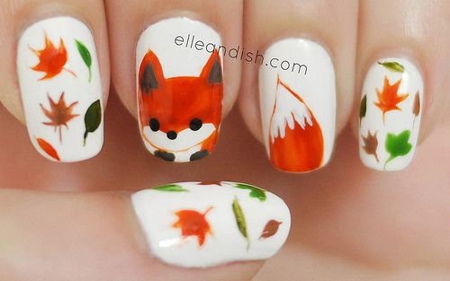 What does the fox say? ;D This is a fox nails freehand tutorial for the fall / autumn season! ★ Materials: Julep Ingrid (orange) OPI Alpine Snow OPI Black Onyx Essie Power Clutch (gra...