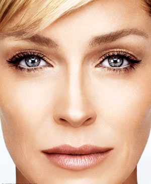 Sharon Stone  gorgeous make up