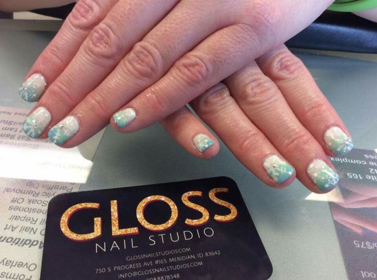 Frosty Nails  By Angie Heinemann  Gloss Nails:  Schedule an appointment today  (208)887-8548