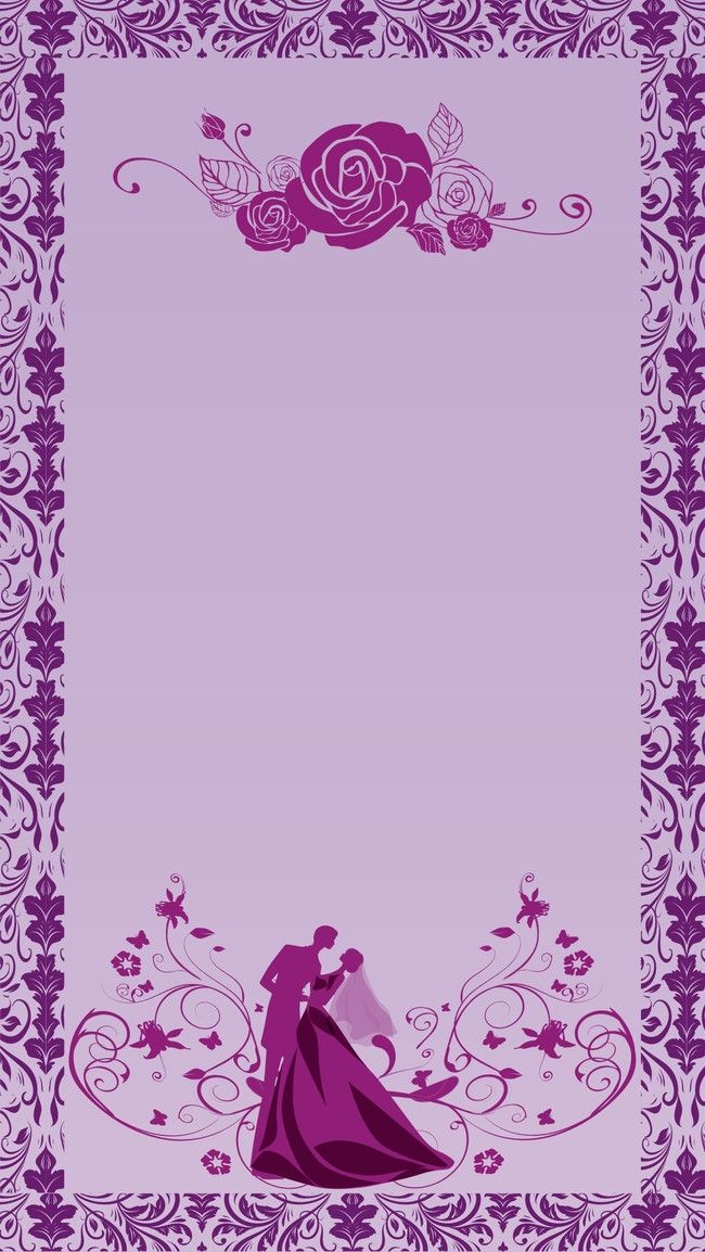h5 wedding invitation vector background