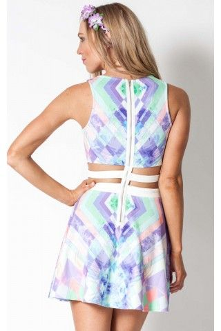Kaleidoscope dress in print | SHOWPO Fashion Online Shopping | See more about kaleidoscopes, online shopping and prints.