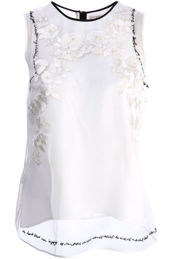 Erdem Lucille Embroidered Top | Kirna Zabete