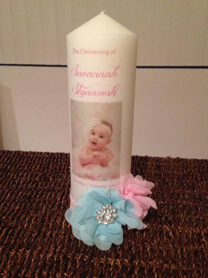 Personalised Christening Candle
