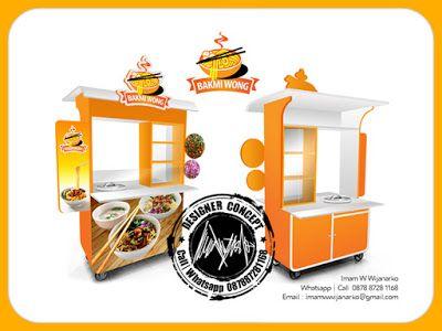 Desain dan Produksi Gerobak: Desain Gerobak Mie Ayam Bakmi Wong