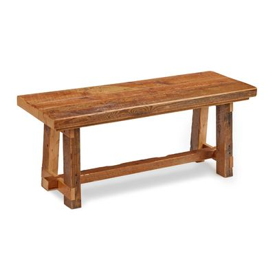 Maine Reclaimed Barnboard Bench, In Hemlock. Chilton Furniture, Freeport, ME ,