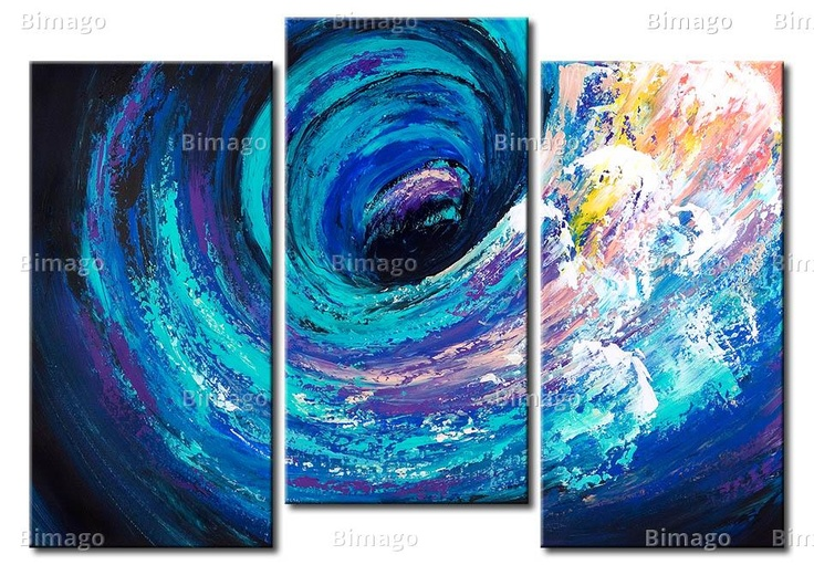 Quadro Sulla cresta dell'onda - bimago.it // abstract wave, canvas art, painting